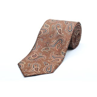 Versace Men's Silk Neck Tie N2040-0538 Brown Paisley