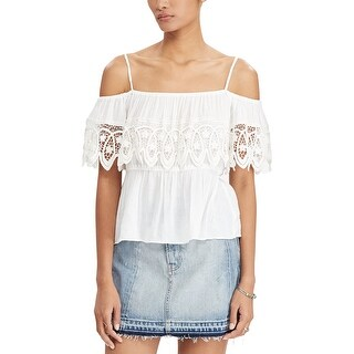 Denim Supply Ralph Lauren Off The Shoulder Gauze Top