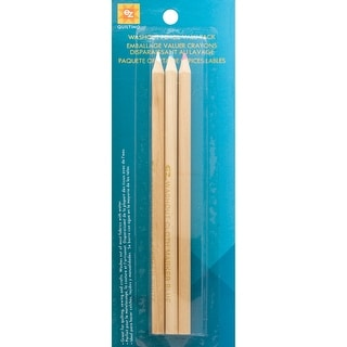 Washout Pencils 3/Pkg-Red, White & Blue - red, white & blue