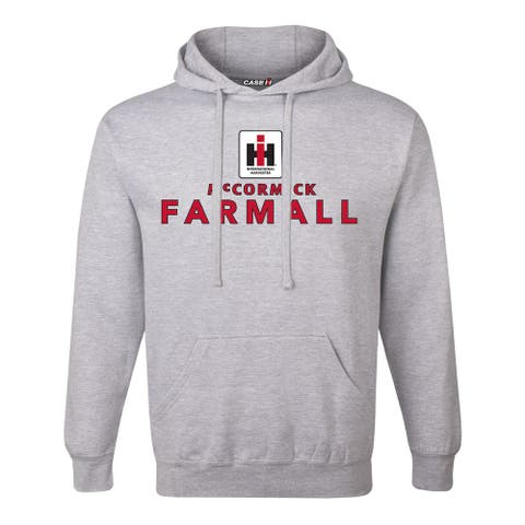 IH Square Logo Mccormick Farmall Stack - Men's Pullover Hoodie