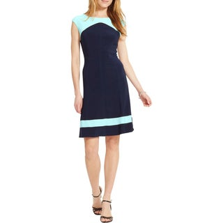 American Living Womens Wear to Work Dress Colorblock Fit & Flare