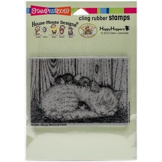 Stampendous House Mouse Cling Stamp -Cat Nap