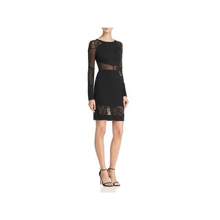 French Connection Womens Tatlin Cocktail Dress Lace Trim Party