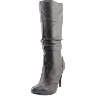 Chinese Laundry Adore Women Pointed Toe Leather Brown Knee High Boot