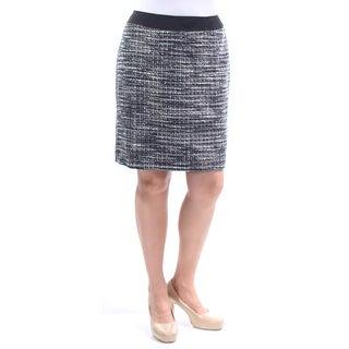 Womens Black Above The Knee Pencil Skirt Petites Size 14
