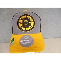 041c9cfd114 Shop Boston Bruins Mens Adult Size S M Reebok Stretch Fit Cap Hat ...