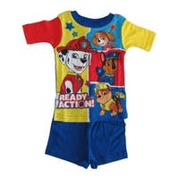 Nickelodeon Little Boys Royal Blue Yellow Paw Patrol Two Piece Pajamas