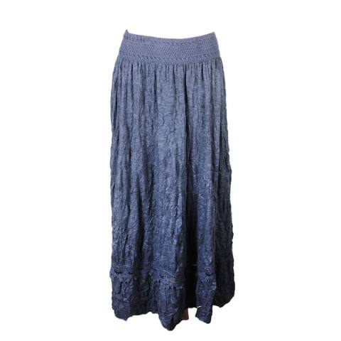 Inc International Concepts Dark Grey Crotchet Trim Maxi Skirt M