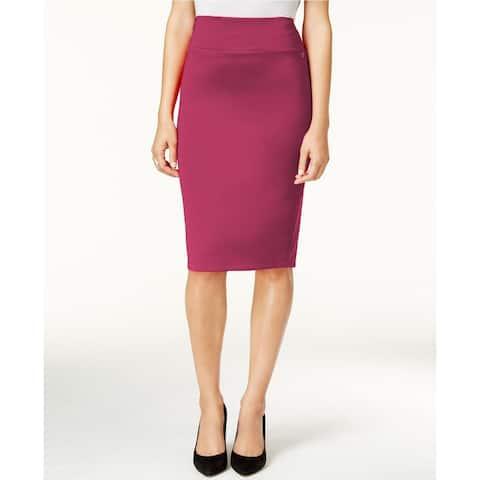 Thalia Sodi Women's Scuba Pencil Skirt Purple Size Large
