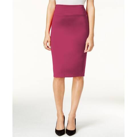 Thalia Sodi Women's Scuba Pencil Skirt Purple Size Small