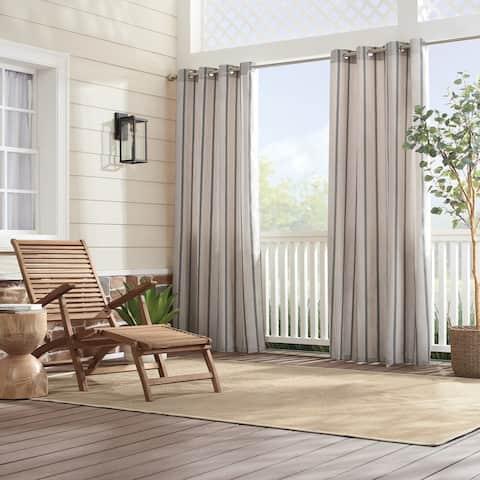 Sunbrella Cove Stripe Grommet Panel