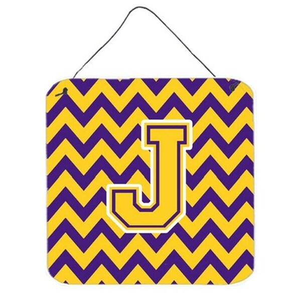 Letter J Chevron Purple Gold Wall Or Door Hanging Prints 6 Free Shipping On Orders Over 45 24506619
