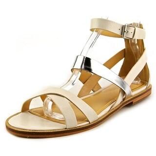 Enzo Angiolini Jeat Women Open Toe Leather White Gladiator Sandal