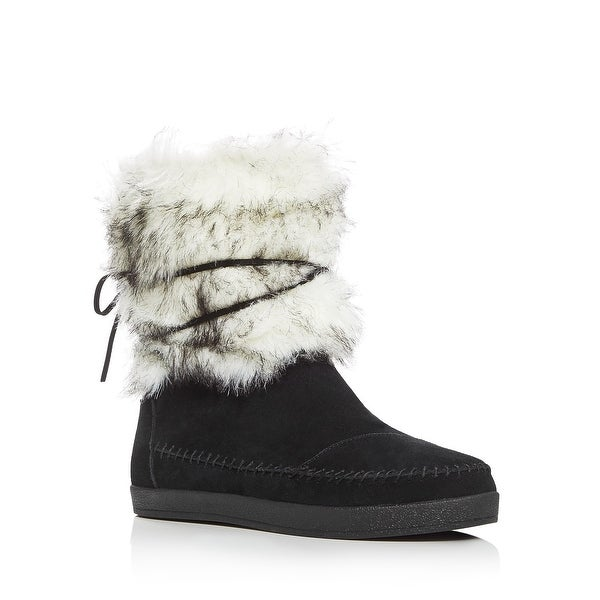 3b378a1a189 Shop Toms Nepal Prabal Contrast Suede Faux Fur Boots Shoes Black Suede - 8  b(m) - Free Shipping Today - Overstock - 23159307