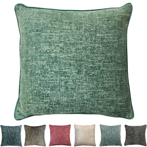 Rodeo Home Joelle Decorative Luxury Chenille Square Throw Pillow