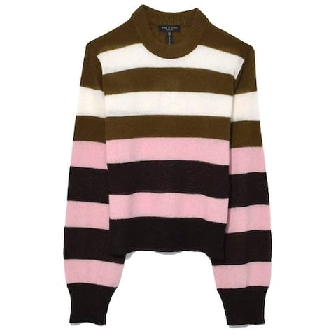 Rag & Bone Annika Pink Striped Cashmere Sweater