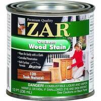 ZAR 12006 Interior Oil-Based Wood Stain, Teak Natural, 1/2 Pint