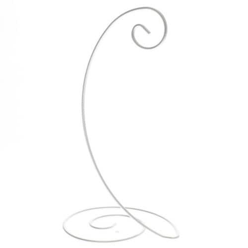 Silver Spiral Ornament Stand Ornament