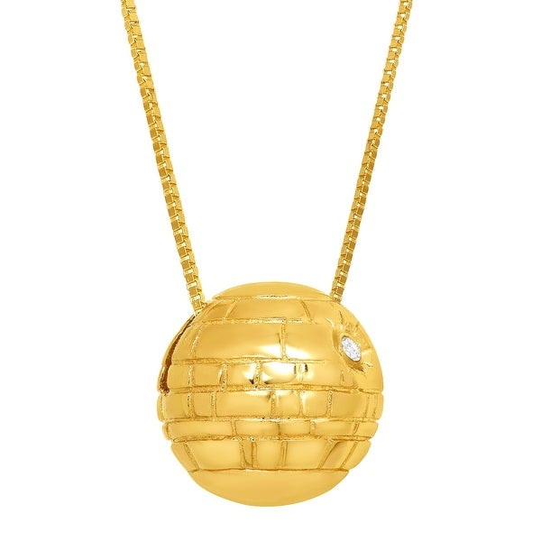 Star Wars Death Star Pendant with Swarovski Crystal in 10K Gold
