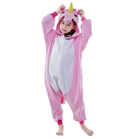 Unicorn Girls Pink White Long Sleeve Unicorn Romper