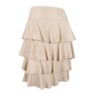 Sutton Studio Women's Tiered Ruffle Skirt - LINEN - 22W