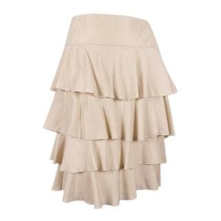 Sutton Studio Women's Tiered Ruffle Skirt
