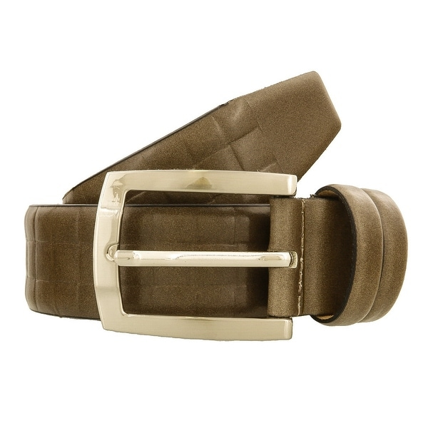 Renato Balestra Y105 TAUPE Taupe Leather Mens Belt-41.5in - 41.5