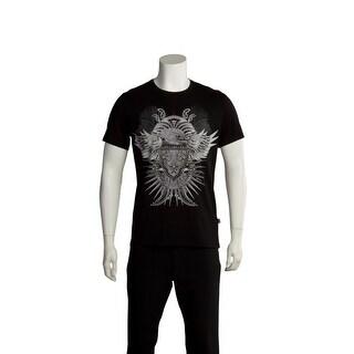 Just Cavalli Men Hawk Crest T-Shirt Black