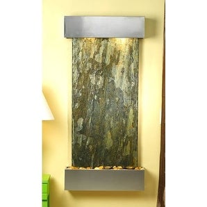 Adagio CSS2002 Cascade Springs - Green Natural Slate Wall Fountain
