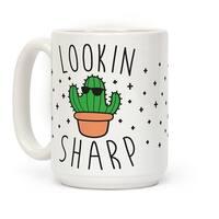 Lookin Sharp White 15 Ounce Ceramic Coffee Mug by LookHUMAN