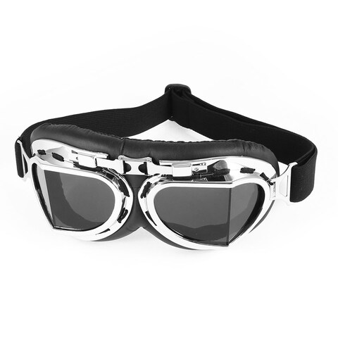 Unique Bargains Off-road Hiking Clear Black Lens Sand Wind Eyes Protector UNI Goggles Glasses