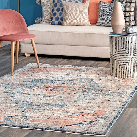 nuLOOM Transitional Vintage Medallion Nichole Area Rug