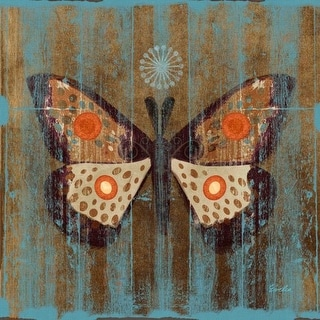 Marmont Hill Rustic Moth Evelia Painting Print on Canvas