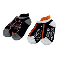 Harley Davidson 2 Pair Pack Ladies Athletic Ankle Socks