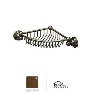Rohl U.6916 Perrin and Rowe Wall Mounted Corner Basket - polished nickel