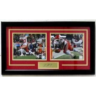 Kareem Hunt Framed 16x27 Kansas City Chiefs Photo Laser Engraved Signature