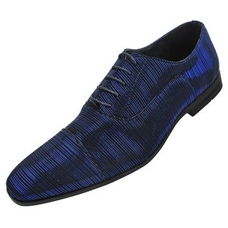Amali Mens Stripe Cap Toe Oxford Dress Shoe