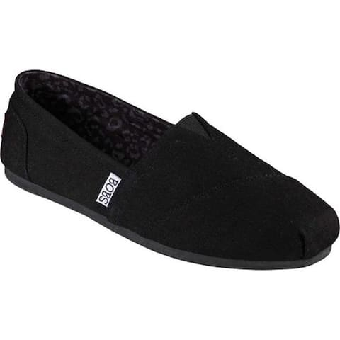 Skechers Women's BOBS Plush Peace and Love Black
