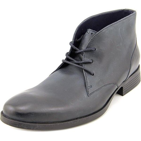 Cole Haan Copley Chukka Boot Men  Round Toe Leather Black Chukka Boot