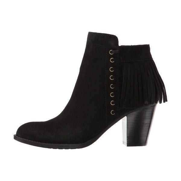 Sofft Womens Winters Fringed Suede Almond Toe Ankle Fashion Boots
