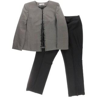 Tahari ASL Womens Plus Rob Tweed 2PC Pant Suit - 18