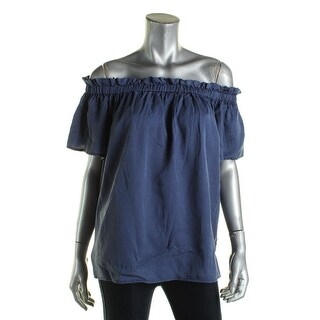 French Connection Womens Casual Top Chambray