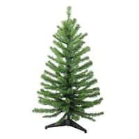 3' Two-Tone Balsam Fir Artificial Christmas Tree - Unlit - green