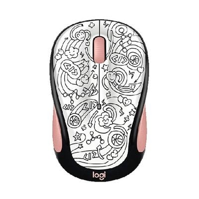 Logitech M325c Small Colorful Wireless Mouse - Brainstorm Peach