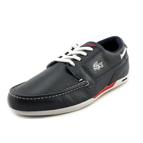 a028b9924014f Shop Lacoste Dreyfus Moc Toe Leather Fashion Sneakers - Free ...
