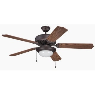 "Craftmade K11206 Pro Builder 209 52"" 5 Blade Indoor Ceiling Fan with Light Kit and Blades Included"
