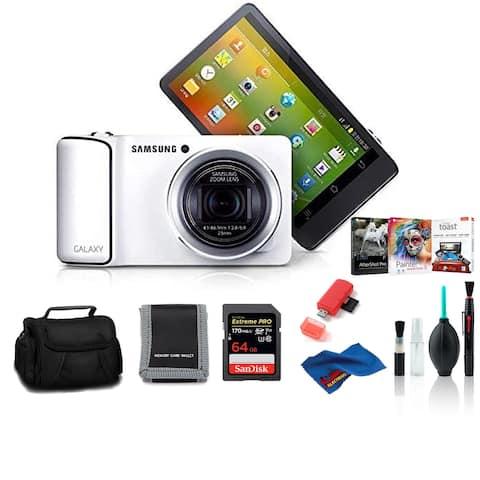Samsung EK-KC120 GALAXY Digicam White with 64GB Corel Kit