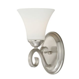 Vaxcel Lighting W0194 Belleville Single Light Wall Sconce with Bell Shaped Frosted Glass Shade