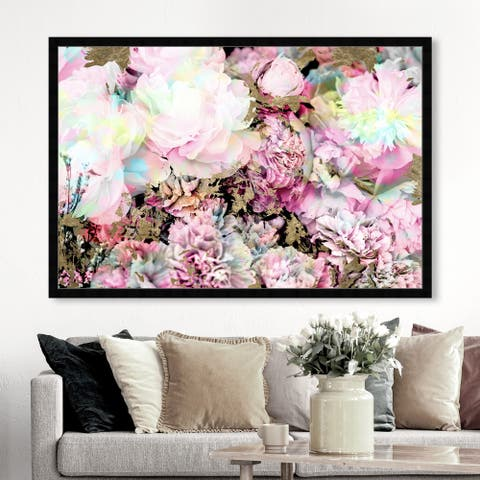 Oliver Gal 'Wild and Beautiful' Floral and Botanical Wall Art Framed Print Florals - Pink, White