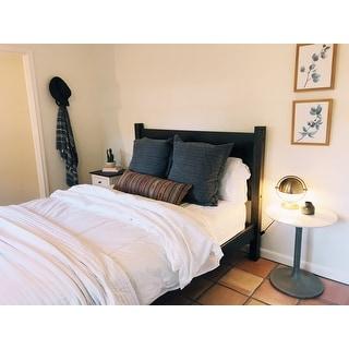 Grain Wood Furniture Shaker Panel Queen Solid Wood Platform Bed